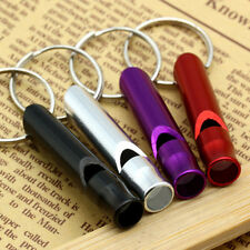 5pcs Aluminum Alloy Survival Whistle Key Chain Outdoor Emergency Sports Camping