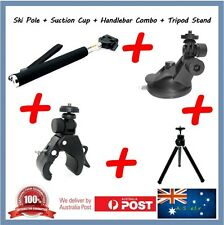 Monopod + Suction Cup Cap + Handlebar +Stand for Toshiba Camileo X-Sports Camera