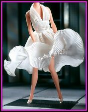 Barbie Marilyn Monroe seven year itch white dress silkstone model muse