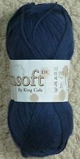 100g Cottonsoft DK Double Knitting 100% Cotton Knitting Wool Yarn King Cole