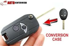 Modify Flip Remote Key 2 Button Shell Case BMW Mini Cooper R50 R53 + Free Badge