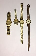 LOT OF 4 SEIKO ELEGANT QUARTZ WOMENS WATCHES WATCH AND BANDS