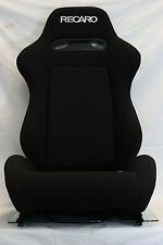 PAIR RECARO SR3 SRD SEAT BLACK FABRIC PAIR RECLINABLE LOW MAX CUGA VIOS