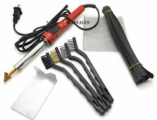 New 80 Watt Iron PLASTIC WELDING KIT TPO TEO PP Rod Mesh Auto Welder Repair Kit