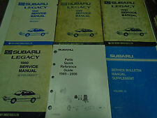 1990 Subaru Legacy Service Repair Shop Manual SET FACTORY OEM Books Incomplete