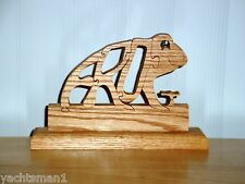 Frog Free Standing Wood Animal Puzzle w/ Base ~ NEW
