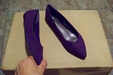 womens worthington pennie purple pointed toe slip on flats shoes size 7