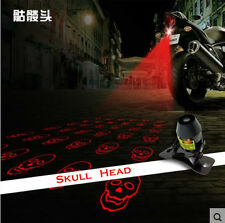 Universal Laser Safety Anti Collision Crash Motorcycle Fog Light Lamp Skull Head