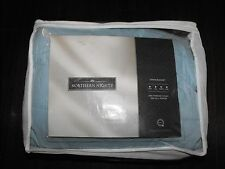 Northern Nights Queen Quilt Solid Light Blue Block Pattern New