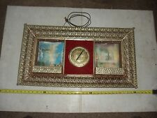 OLD VINTAGE 1940s RELIGIOUS CHURCH CLOCK HOLOGRAM WALL HANGING PICTURE