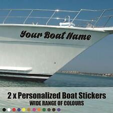 2x SSR / Boat Name 290x60mm  Custom Waterproof Boat/Water  Vinyl Decal Sticker