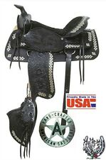 16 Inch Black Western Parade Saddle Set- Diamonds - American Saddlery - USA