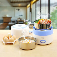 BEAR 1.6L Electric Lunch Box 2 Layer Stainless Steel Inner Pot Mini Rice Cooker