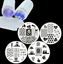 Love Heart Series Nail Art Stamping Template Plates with Stamper Scraper Kit