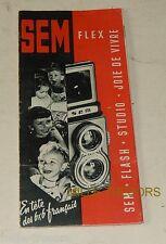 RARE Dépliant publicitaire SEM: SEMFLEX - SEM STUDIO – SEM FLASH..