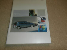 Vauxhall Signum Brochure - 2003 Model - Elegance, Design, Elite.Specifications