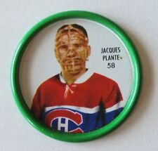 1962-63 SHIRRIFF HOCKEY METAL COINS JACQUES PLANTE Vezina COIN Montreal Canadien