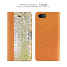 Bling Crystal Croco Genuine Leather Wallet Case Cover iPhone 5 S/SE/6/6S/Plus/7