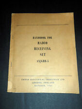 Militaria Trasmissioni - Handbook for Radio Receiving Set AN/GRR-5 - ed. 1954