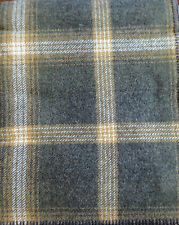 "NWT PENDLETON WOOL BLANKET QUEEN WASHABLE Oxford Grey Tan Plaid ""MADE IN THE USA"