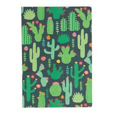 CACTUS A5 Notebook Note Pad Blank Plain Unlined Paper Stationery Journal Gift