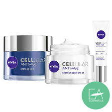 Nivea Cellular Anti-Age SET Night Cream + Day Cream + Eye Cream Wrinkles/Lines