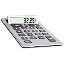 """Extra Large 8"""" Silver Giant Calculator Jumbo Huge Buttons Flip Up LCD"""