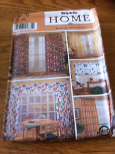 Simplicity Home Decorating Windows  paper sewing pattern. New & Uncut 9606