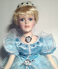 "New 16"" Bisque Porcelain Princess Doll, blond hair limited edition (D1266)"