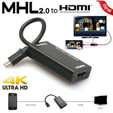 Mini Micro USB 2.0 MHL To HDMI Cable Adapter Converter HD 1080P for Samsung HTC