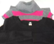 Lot of 2 Take Sweater Dress KiD Girl Fuschia Stripe H&M Black Sweater Knit 8-10