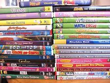 Lot of [30] Children's DVD Movies: 6 Veggie Tales;4 Leap Frog & more]  Fast Ship