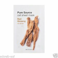 3x MISSHA Pure Source Cell Sheet Mask (Red Ginseng)