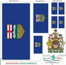 Canada Prv. Alberta Car Caravan Truck Sticker Flags Set With Coat Of Arms