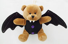 """Unique  Bat Vampire Bear with Wings Plush Toy-9"""" Tall X 14"""" Wings"""