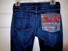 Street Denim Jeans  Bling Pocket Flare Dark Finish  Size 1  NWOT   #K17