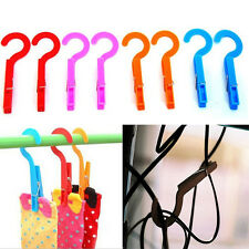 4* Multi-function Household Laundry Travel Clothes Towels Hanger Hook Clips