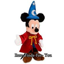 """Disney Parks Exclusive Fantasia Sorcerer Mickey Mouse Plush Doll Toy 9"""" H (NEW)"""