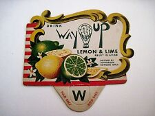 """Vintage Advertising Sign for """"Way Up"""" Lemon & Line Drink w/ Air Balloon *"""