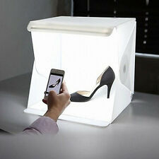 "Portable 9"" Folding Lightbox Studio LED Photography Box for Mbile Phone or DSLR"