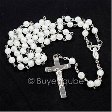 """Glow in the Dark"" Miraculous Luminous Rosary 20"" L 17/8"" Crucifix 6mm Beads"