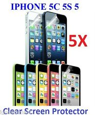 5 X LCD Transparent Clear Screen Protector Skin Film for Apple iPhone 5 5c 5s