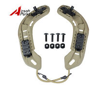 Tactical OPS-CORE Helmet Rail Kit with Lanyard Tan for Airsoft Paintball Hunting