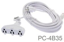 35ft 3-Outlet 3-Prong 16/3 AWG SJTW Power Extension Cord, White PC-4B35