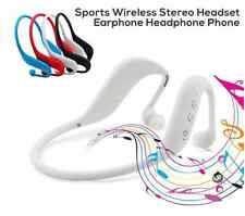Blanco 3 en 1 Auricular Bluetooth Wireless Sport apoyo TF tarjeta, MP3 Y Radio Fm