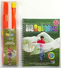 "LIBRO + ATTREZZO PER BOLLE GIGANTI ""The bubble thing"" - Giant Bubble maker"