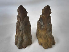 Pair 19th c. Antique Bronze Salvaged Claw Foot Mounts for Parts or Repair