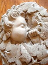 """Stucco -Stuck -Medallion """"Child Wreath"""" Concrete Exterior Facade"""