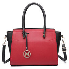 Women Designer Leather Style Celebrity Medium Shoulder Handbag Tote shoulder Bag