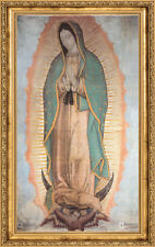 "Our Lady of Guadalupe Religious Gold Faux Frame Stretched Canvas 24""x36""x1.5"""